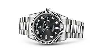 """DAY-DATE 36<br><span class=""""watch-des"""">Oyster, 36 mm, white gold</span>"""
