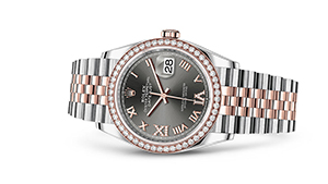 """DATEJUST 36<br><span class=""""watch-des"""">Oyster, 36 mm, Oystersteel and Everose gold</span>"""
