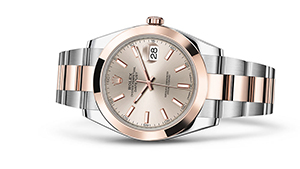 "DATEJUST 41<br><span class=""watch-des"">Oyster, 41 mm, Oystersteel and Everose gold</span>"
