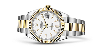 "DATEJUST 41<br><span class=""watch-des"">Oyster, 41 mm, Oystersteel and yellow gold</span>"