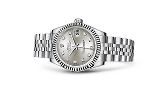 """DATEJUST 31<br><span class=""""watch-des"""">Oyster, 31 mm, Oystersteel and white gold</span>"""