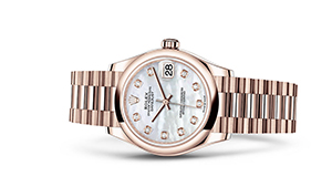 """DATEJUST 31<br><span class=""""watch-des"""">Oyster, 31 mm, Everose gold</span>"""