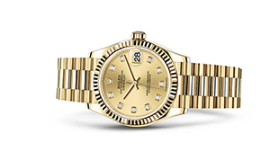 """DATEJUST 31<br><span class=""""watch-des"""">Oyster, 31 mm, yellow gold</span>"""