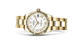 "DATEJUST 31<br><span class=""watch-des"">Oyster, 31 mm, yellow gold</span>"