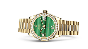 """DATEJUST 31<br><span class=""""watch-des"""">Oyster, 31 mm, yellow gold and diamonds</span>"""