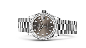 "DATEJUST 31<br><span class=""watch-des"">Oyster, 31 mm, white gold and diamonds</span>"