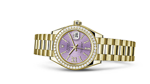 """LADY-DATEJUST 28<br><span class=""""watch-des"""">Oyster, 28 mm, yellow gold</span>"""