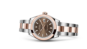 """LADY-DATEJUST 28<br><span class=""""watch-des"""">Oyster, 28 mm, Oystersteel and Everose gold</span>"""