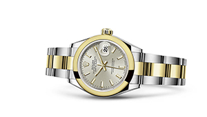"""LADY-DATEJUST 28<br><span class=""""watch-des"""">Oyster, 28 mm, Oystersteel and yellow gold</span>"""