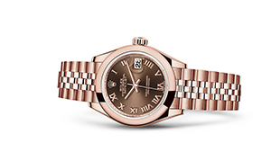 "LADY-DATEJUST 28<br><span class=""watch-des"">Oyster, 28 mm, Everose gold</span>"