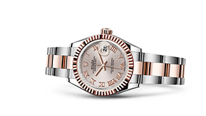 "LADY-DATEJUST 28<br><span class=""watch-des"">Oyster, 28 mm, Oystersteel and Everose gold</span>"