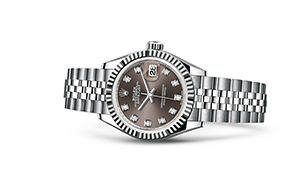 "LADY-DATEJUST 28<br><span class=""watch-des"">Oyster, 28 mm, Oystersteel and white gold</span>"