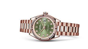 """LADY-DATEJUST 28<br><span class=""""watch-des"""">Oyster, 28 mm, Everose gold</span>"""