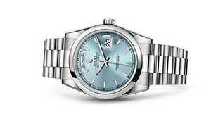 """DAY-DATE 36<br><span class=""""watch-des"""">Oyster, 36 mm, platinum</span>"""