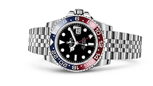 """GMT-MASTER II<br><span class=""""watch-des"""">Oyster, 40 mm, Oystersteel</span>"""