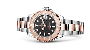 """YACHT-MASTER 37<br><span class=""""watch-des"""">Oyster, 37 mm, Oystersteel and Everose gold</span>"""