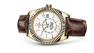 "SKY-DWELLER<br><span class=""watch-des"">Oyster, 42 mm, yellow gold</span>"
