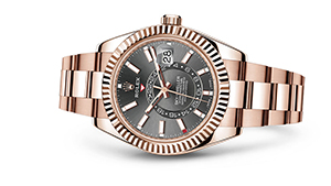 "SKY-DWELLER<br><span class=""watch-des"">Oyster, 42 mm, Everose gold</span>"