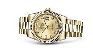 """DAY-DATE 36<br><span class=""""watch-des"""">Oyster, 36 mm, yellow gold</span>"""