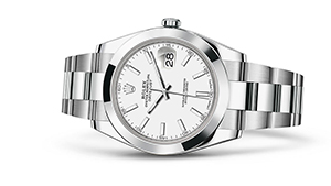 "DATEJUST 41<br><span class=""watch-des"">Oyster, 41 mm, Oystersteel</span>"