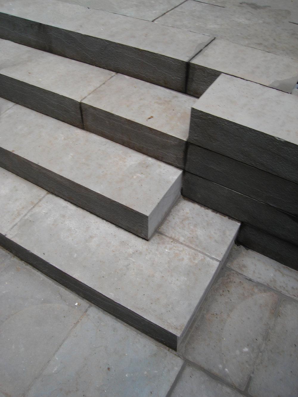 midtown garden concrete steps