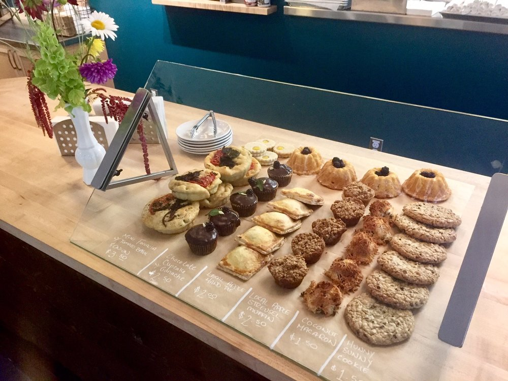 Bakery Case at Meriwether Cafe and Bikeshop