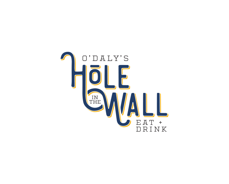 O'Daly's Hole in the Wall logo concept