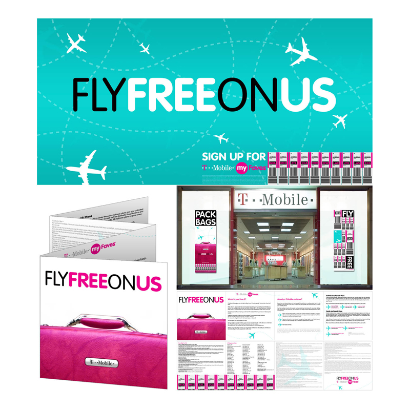 T-Mobile Fly Free Campaign