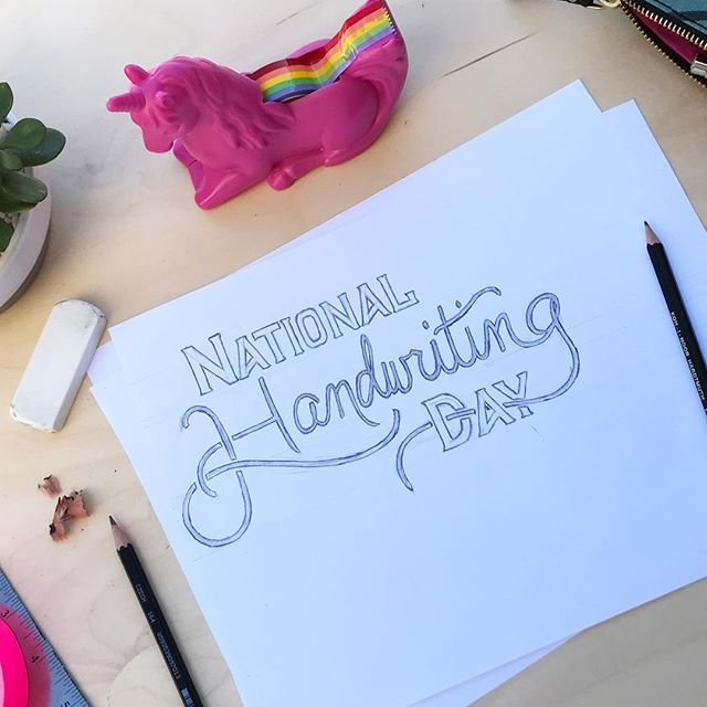 Guys….Happy Late National Handwriting Day! #iliketomakethingspretty #thecarolinerdesigner #betterlatethannever  #nationalhandwritingday #onlyonedaylate #handdrawn #typography