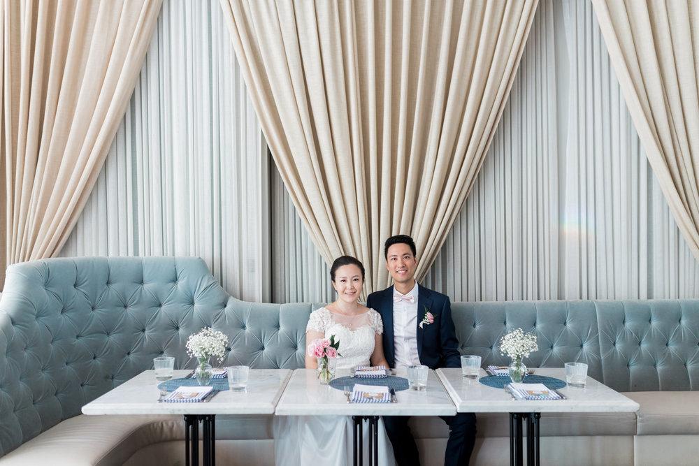 BLUUMBLVD Inside Colette Grand Cafe Wedding Toronto Bud Vases