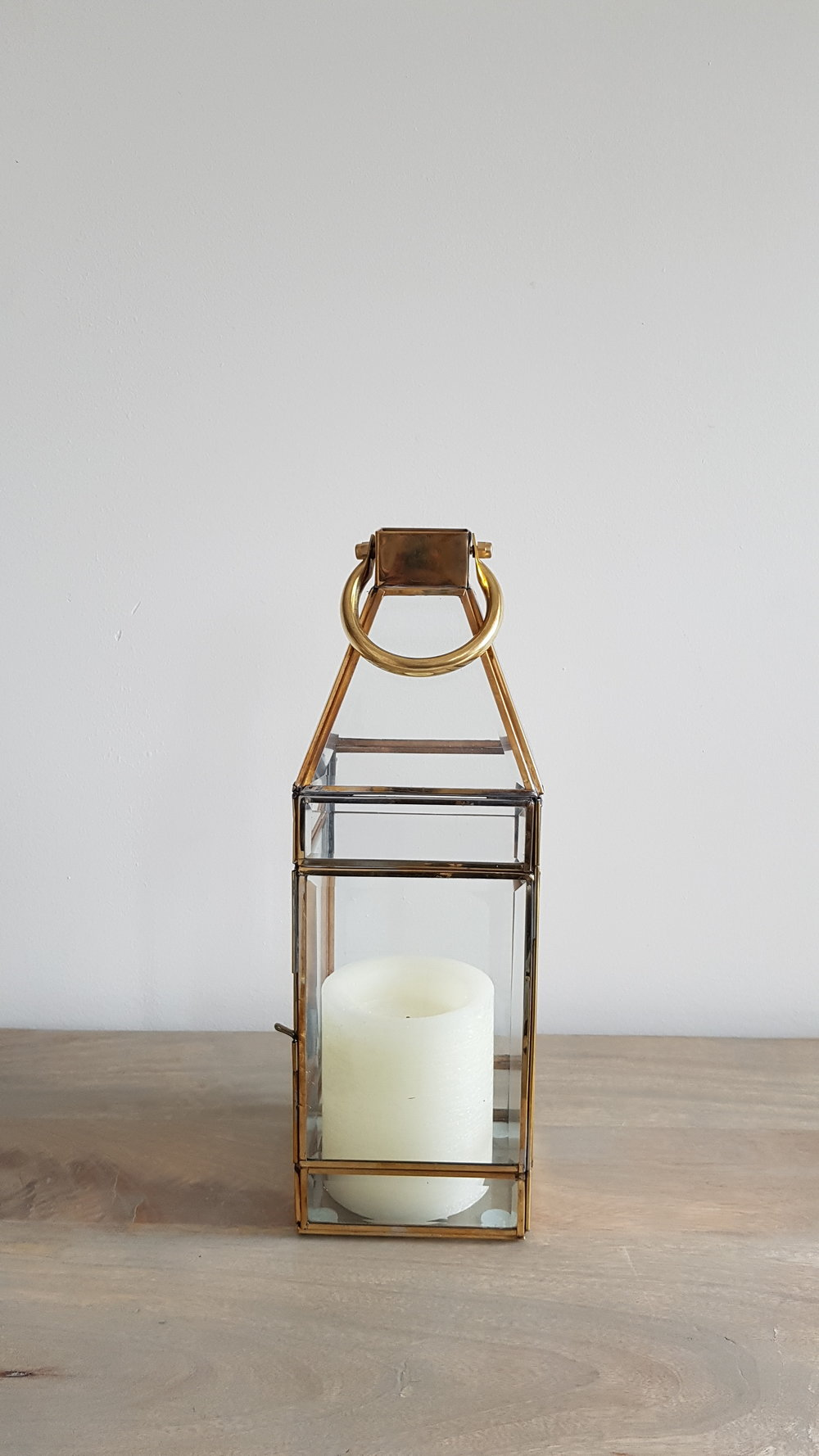 Gold Lantern - $20 each   Qty: 15 (candles not included)