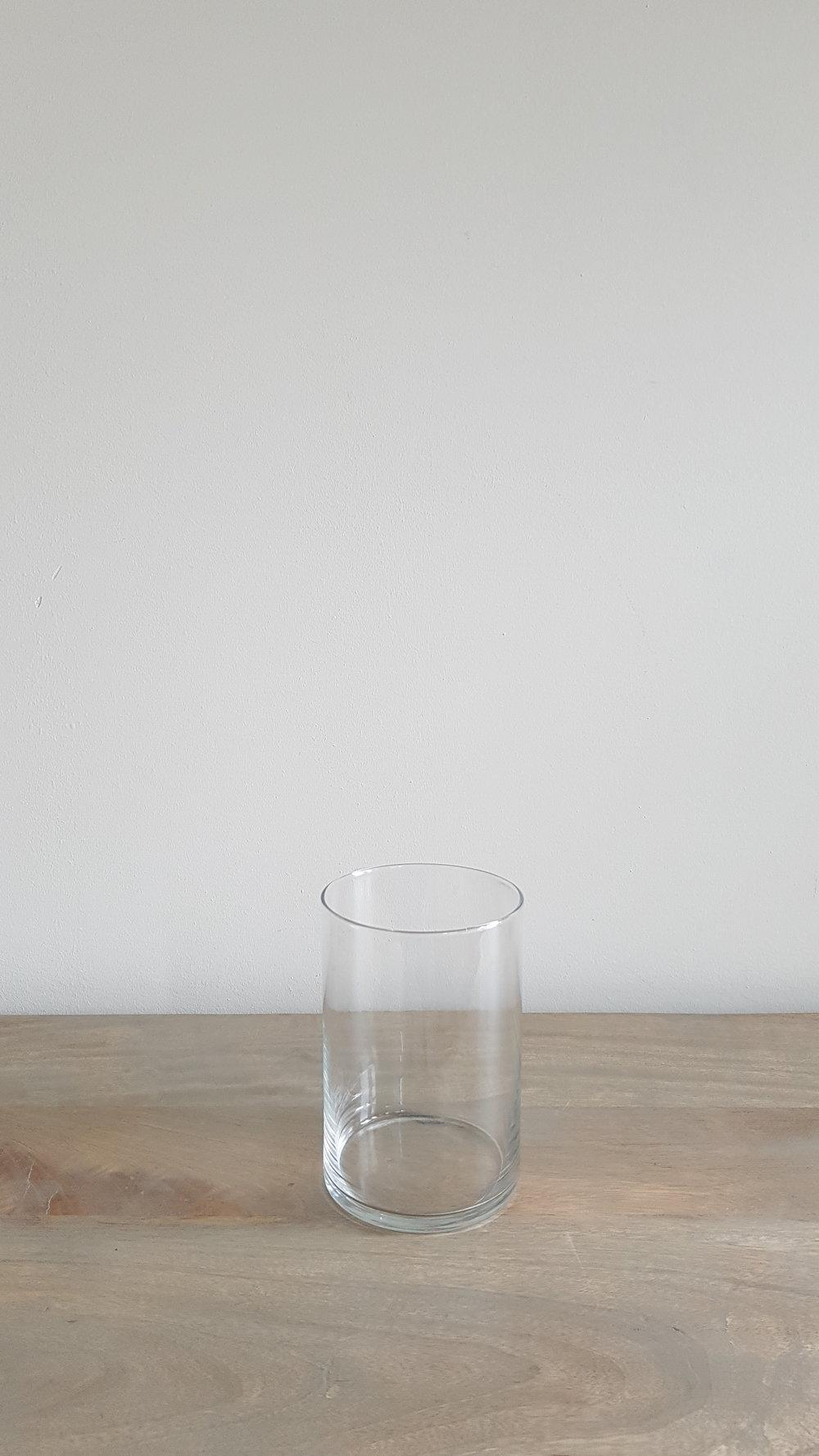 "6"" Glass Cylinder Vase - $1 each   Qty: 50"