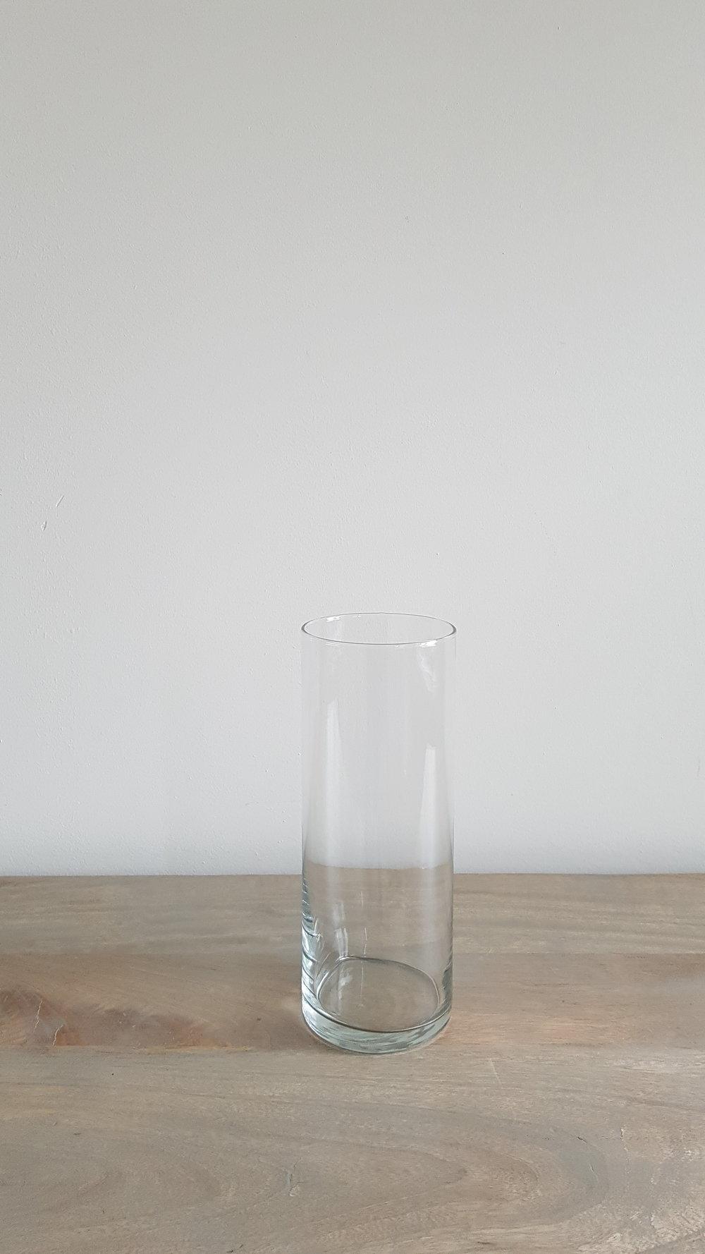 "9"" Glass Cylinder Vase - $1.75 each   Qty: 50"
