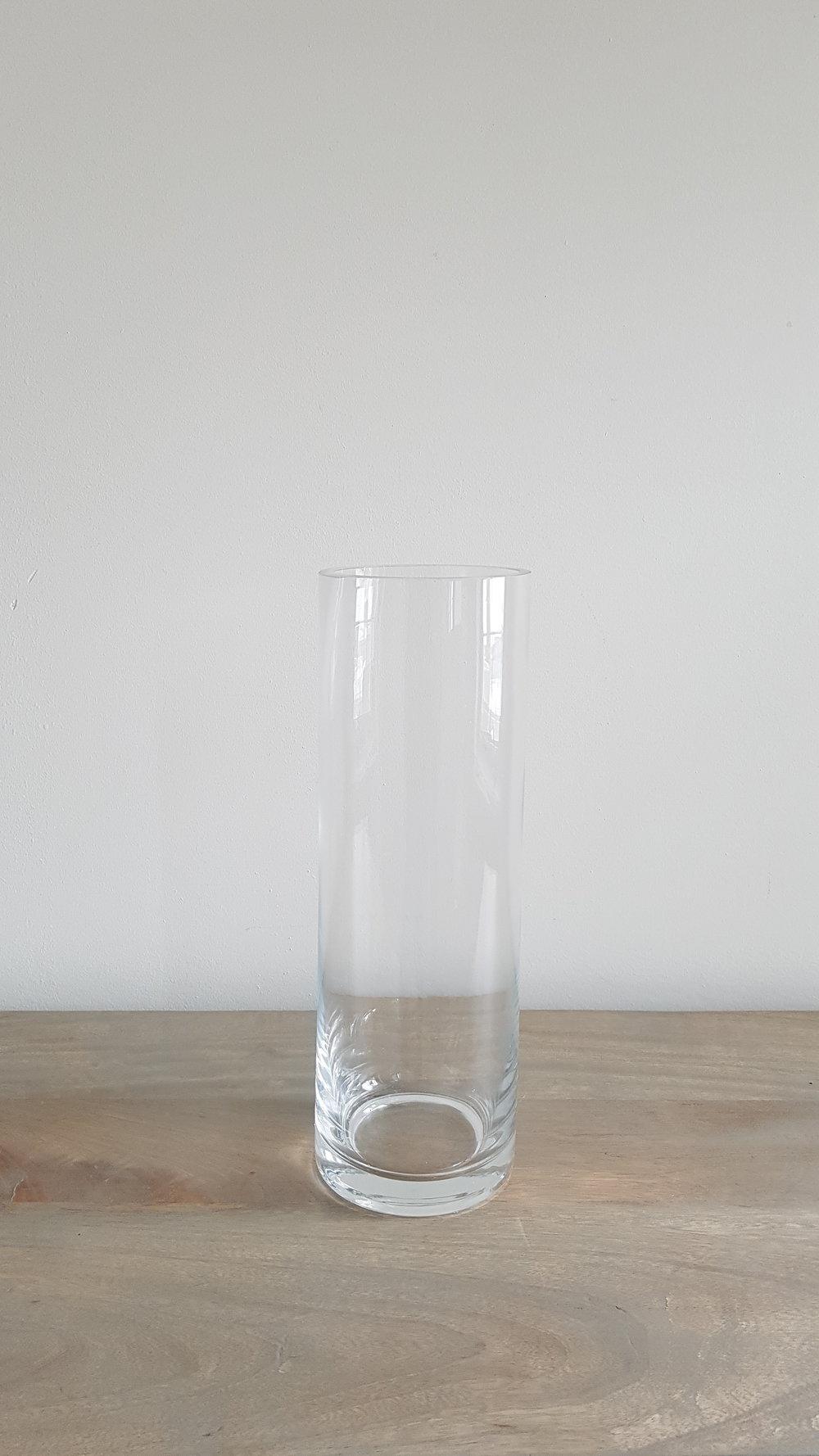 "12"" Glass Cylinder Vase - $2 each   Qty: 50"