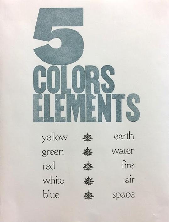 5 Colors / Elements