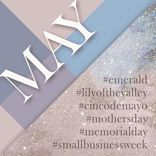 Yay for May! ⠀⠀ #emerald #lilyofthevalley #cincodemayo #mothersday #memorialday #smallbusinessweek #smallbusiness #smallbusinessowner #design #designerlife #color #colorpalette #pastel #neutral #may #sparkle #5months #createkismet #calendar #mother #graphicdesigner #brandingdesign #branding #logos