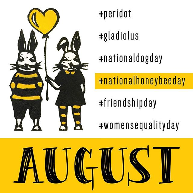 Better late than never! It's been a pretty busy couple of weeks, but finally finished August. ⠀⠀ #peridot #gladiolus #nationaldogday #nationalhoneybeeday #friendshipday #womensequalityday #august #leo #honeybunny #honeybunnies #graphicdesign #graphicdesigner #design #yellow #originalart #linocut #branding #bees #honey #honeybee #bee