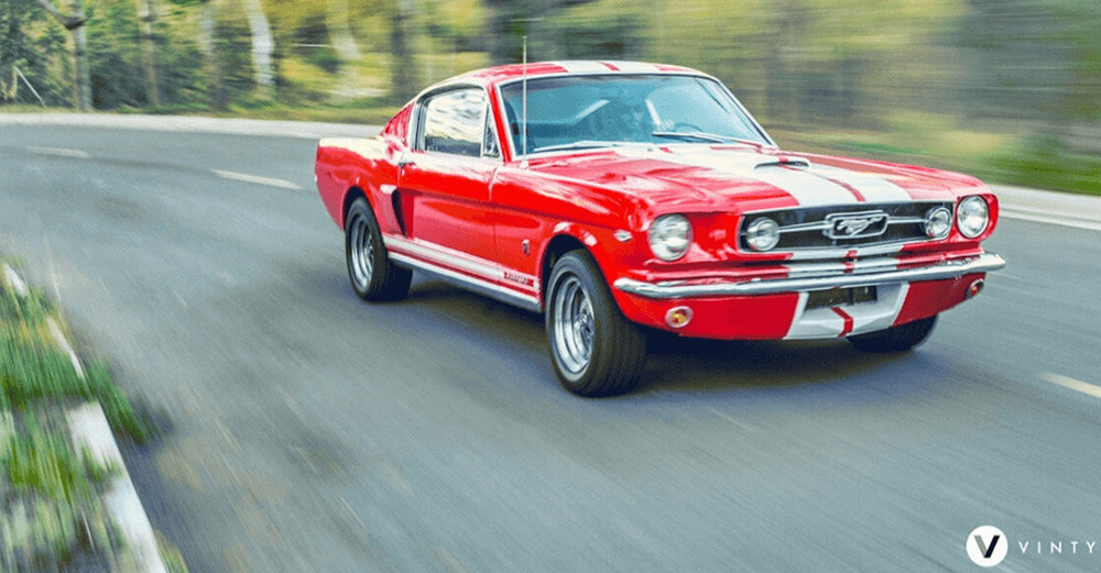 Old red mustang by Vinty