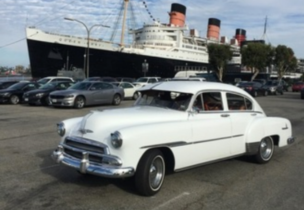 1951 Chevrolet Fleetline - This classic '51 Chevrolet once was the mainstay of the Chevrolet lineup and is sure to make your wedding one of a kind.