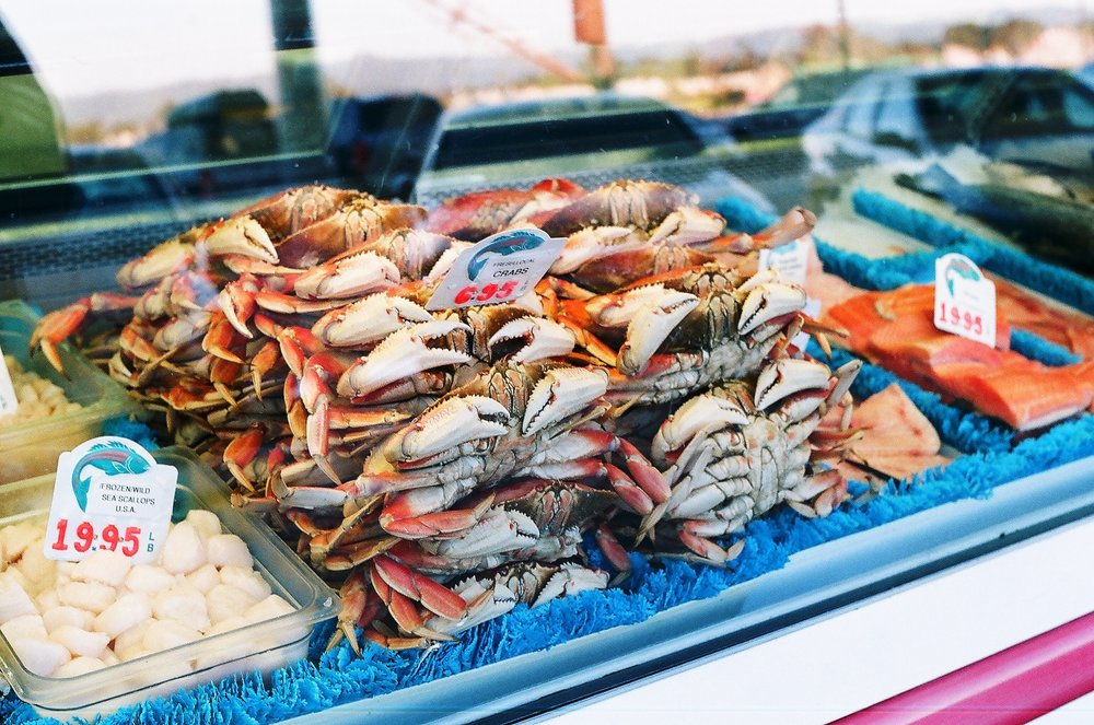 Different types of seafood contain the antioxidant astaxanthin, omega-3 fatty acids, selenium, and vitamin D3, all of which help protect skin from sun damage.