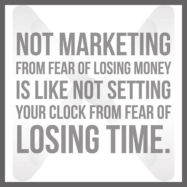 Marketing is what will file your business. Don't be afraid to appropriately budget for marketing. When done correctly it will take your business to the next level.