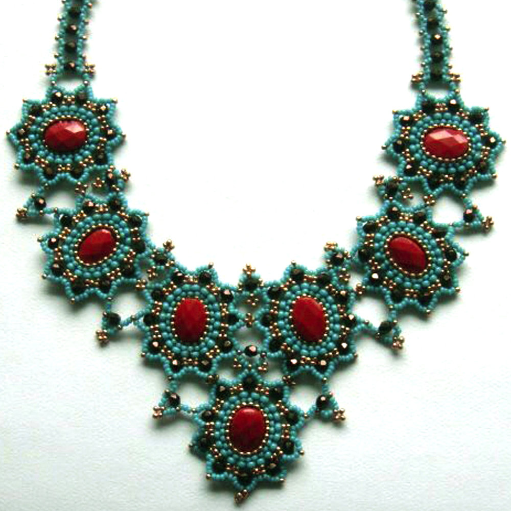 Turquoise and Coral Statement Necklace