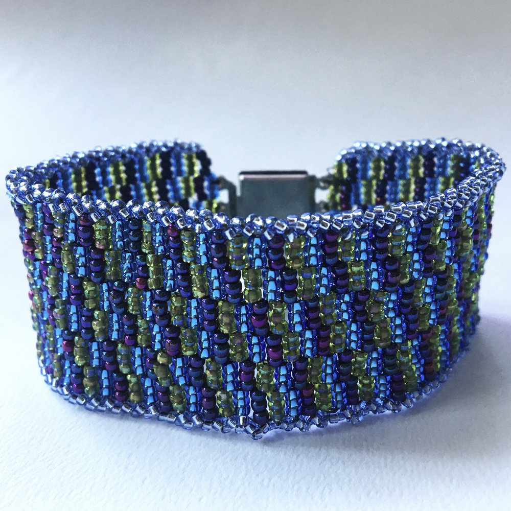 """Got the Blues"" Peyote stitch bracelet"