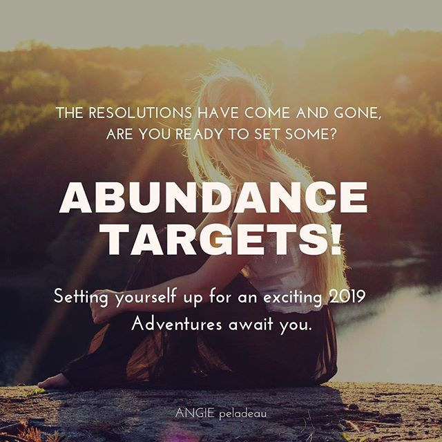 "This is something I am so passionate about. . Abundance Targets. This is one of the pieces of Let It Be Easy I keep talking about. . Doing, pushing, hustling and not seeing the results you deserve? Let's make it easy, break it down and set your Abundance Targets for the entire year. . Make 2019 the year it happened. . You'll never set another ""new years resolution"" again. . A live step by step training. I break it down piece by piece for you. . Get your spot. Wednesday at 11 am EST. Not to worry, if you can't make the time the recording will be sent to you. . I'd so appreciate for you to share this for me. . Register right now, link in profile or here: https://www.angiepeladeau.com/abundance-targets . . . . . . . #abundancenow #entrepreneur #inspiration #inspiring #spiritualgangster #flashesofdelight #personaldevelopment #selfhelp #motivation #selflove #lawofattraction #pursuitwithpurpose #glamour #confidence #theeverygirl #risingtidesociety #girlboss #glitterguide #pursuitwithpurpose #communityovercompetition #entrepreneurmindset #creativepreneur  #spiritualadvice #beautifulmatters #lifeofadventure #myeverydaymagic #momentsofmine #seekthesimplicity #selflovewarrior #angiepeladeau"