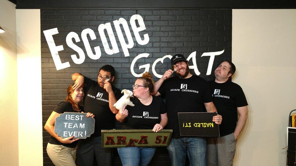Escape Goat Escape Room Review Team