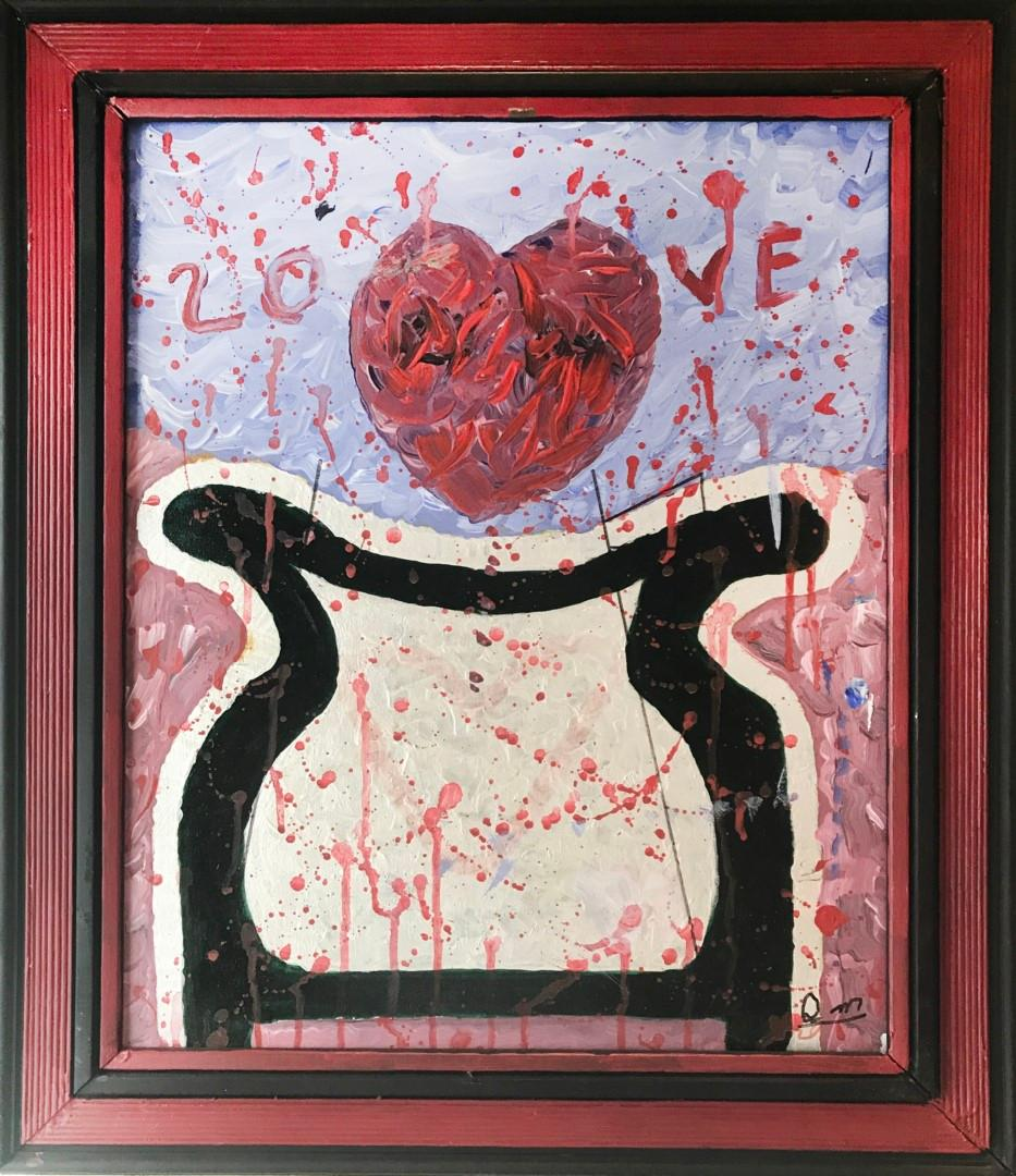 Denver Moore's 'LOVE' Painting - Denver painted from what he felt.LOVE was one of the first words he learned to spell.This painting is truly ONE OF A KIND.You will not only enjoy this unique piece of art - you will also be making a significant and meaningful difference.Your winning bid of this original, 2-sided, signed 'LOVE' painting by Denver Moore will provide emergency services to families experiencing homelessness through the Same Kind of Different as Me Foundation, the '911' for homeless shelters.In addition, the winning bidder will receive a hardcover, autographed copy of Same Kind of Difference as Me AND Ron Hall's new book - Workin' Our Way Home.
