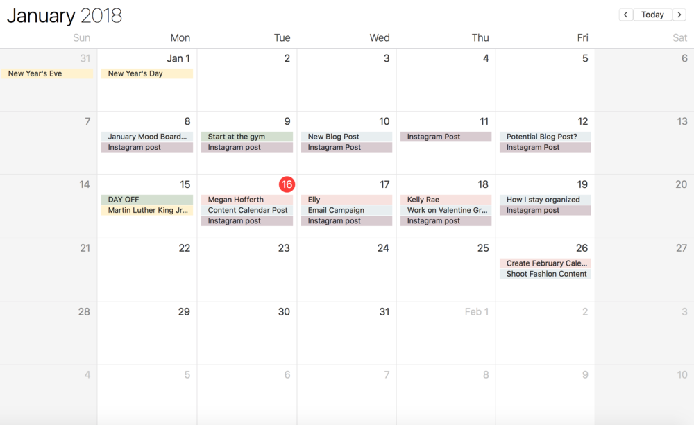 The Importance of a Content Calendar | 42 Post Ideas