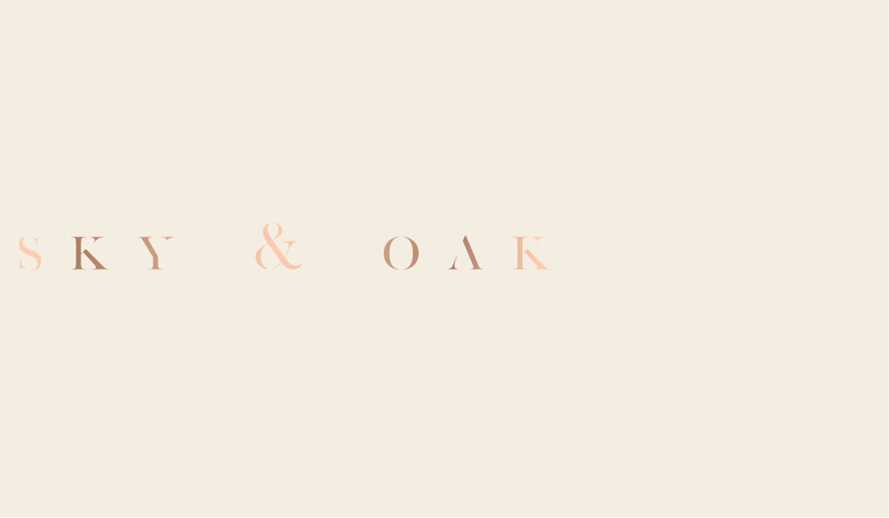 SKY & OAK BUSINESS CARD DESIGN