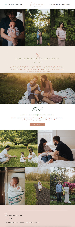 Kendra Conroy Photography Custom Squarespace Website