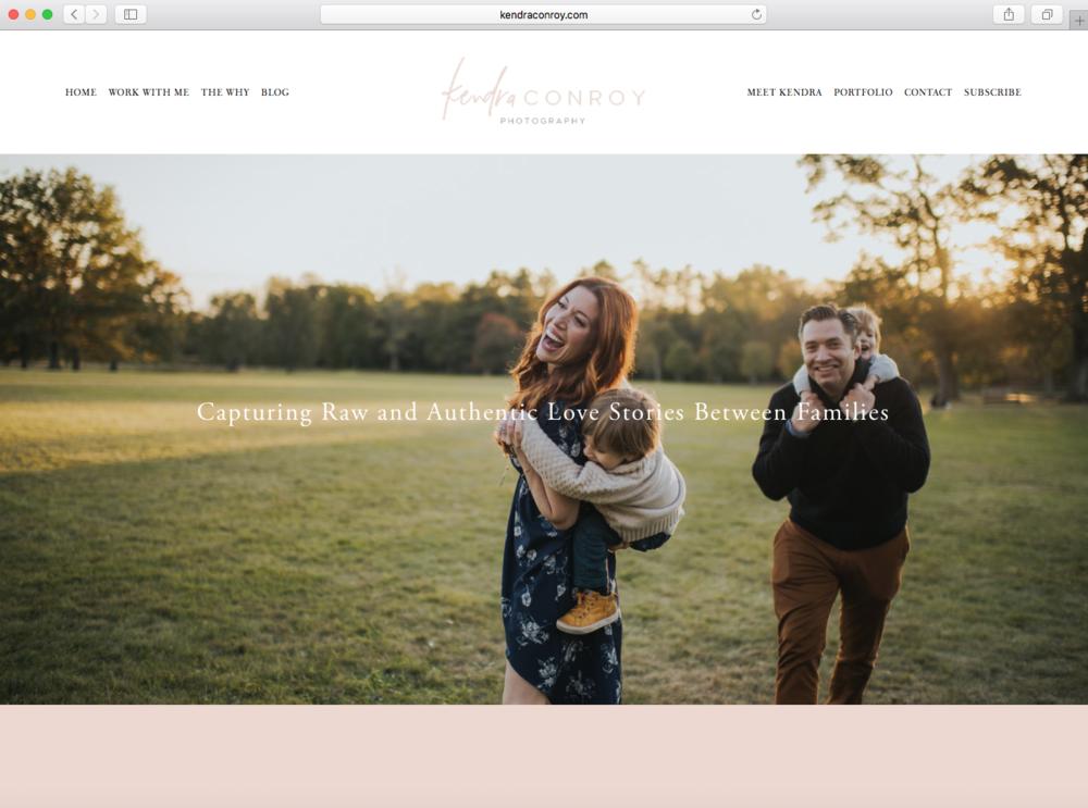 Kendra Conroy Website Design